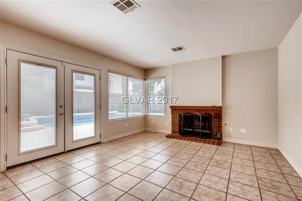 spacious family room with walk out